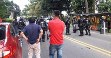 3 policías heridos y 3 capturados fue el saldo de las protestas en La Tebaida