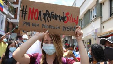 Retiro de la reforma a la salud, otra de las prioridades de los manifestantes
