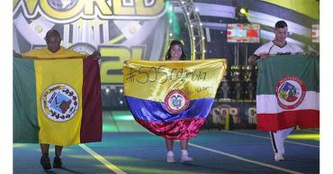 Paula Duque y Jhon Edwin Vargas lograron cuarto lugar en Mundial de Porrismo