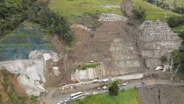Bloqueos perjudicaron obras anexas al túnel de La Línea en 3 puntos
