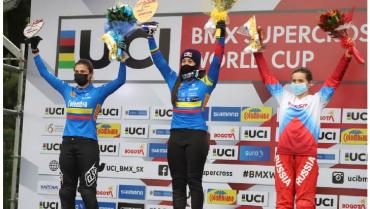 Mariana Pajón revalida favoritismo y gana tercera válida de Copa Mundo de BMX