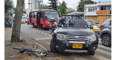 Vehículo arrolló ciclista en el norte de Armenia