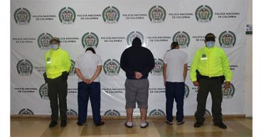 Capturados 5 miembros del grupo delincuencial Los Renegados