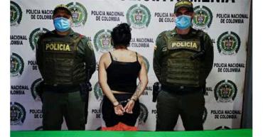 Mujer fue arrestada por concierto para delinquir y tráfico de estupefacientes