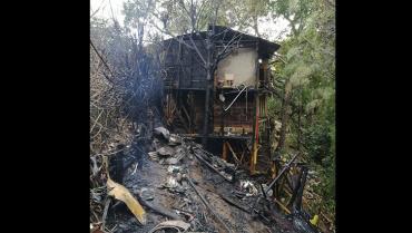 5 personas damnificadas tras incendio en el barrio Gibraltar