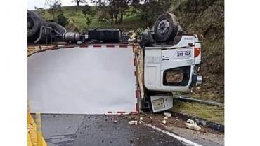 Accidente en La Línea no dejó personas lesionadas
