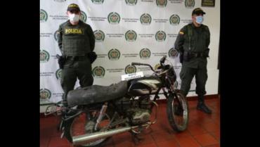 Recuperaron motocicleta