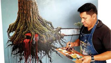 Juan Carlos Suárez, arte natural hecho a pulso