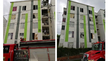 Incendio estructural en el Barrio Génesis