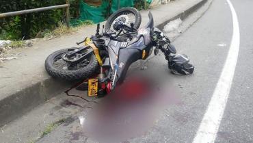 Motociclista perdió una de sus piernas en siniestro de tránsito