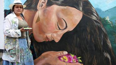 El muralismo de Mónica Muriel