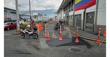 Cierre en la calle 23 y barrio San José por inicio de labores de reparcheo