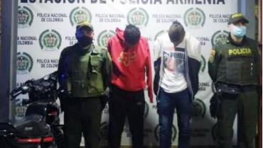 2 capturados por hurto en el norte de Armenia