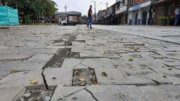 Suspendidas las obras de El Paseo El Edén en La Tebaida