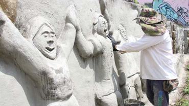 A sanar las 'heridas' de la obra Alegoría a Armenia
