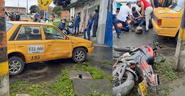 2 lesionados en accidente de tránsito en Calarcá
