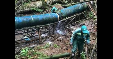 Vandalismo en tubo de EPA deja sin agua varios sectores de Armenia