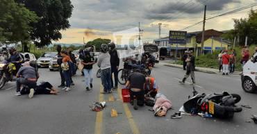 2 mujeres lesionadas en accidente de tránsito en el sur de Armenia