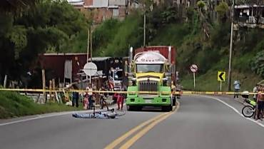 Investigan muerte de ciclista en Calarcá