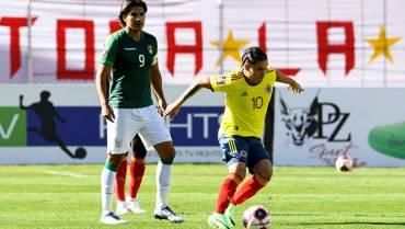 """Casi asfixiada, Colombia sumó un punto que le da """"un respiro"""""""