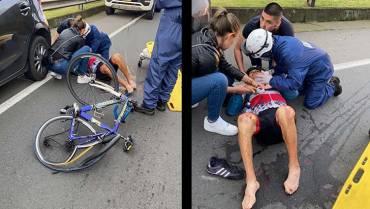 Ciclista murió arrollado en carretera del Quindío