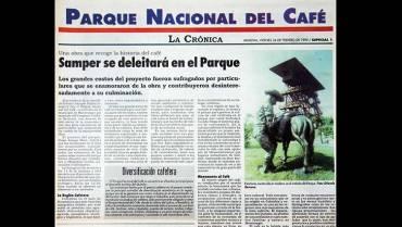 Así se registró en 1995: Abrió sus puertas el  Parque Nacional del Café