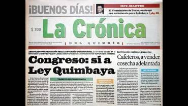 En el 2000: Fue sancionada la ley Quimbaya, en beneficio del Quindío