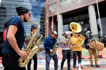 Protestas contra multinacional canadiense Eco Oro en Bogotá