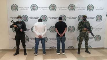 2 capturados por extorsionar comerciante en Quimbaya