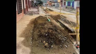 Se estancaron las obras de reparación de acueducto y alcantarillado en La Esperanza