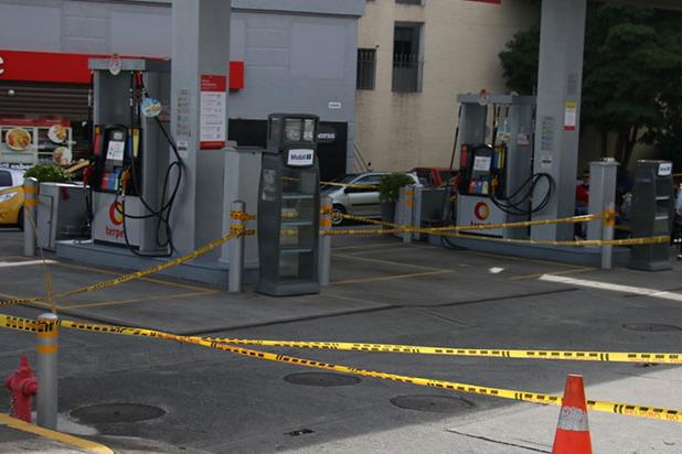 Para qué gasolina si les disparan